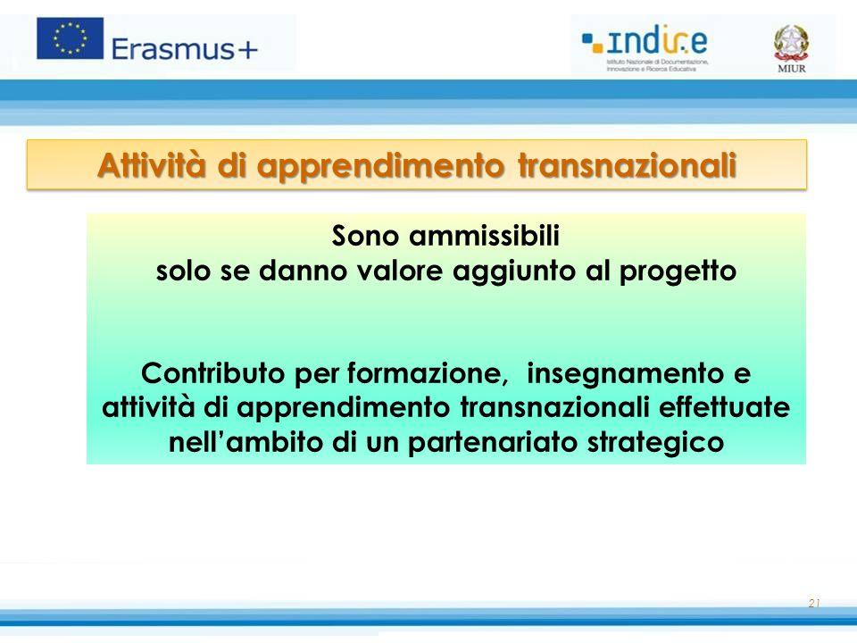 Attività di apprendimento transnazionali