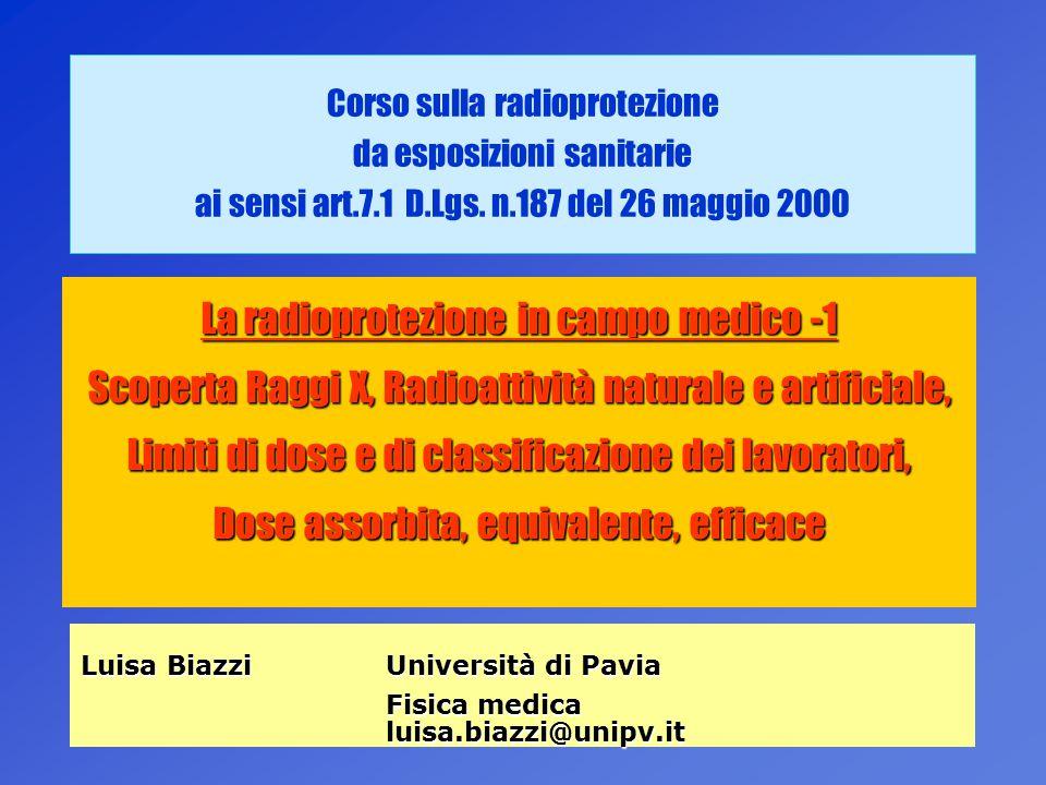 La radioprotezione in campo medico -1