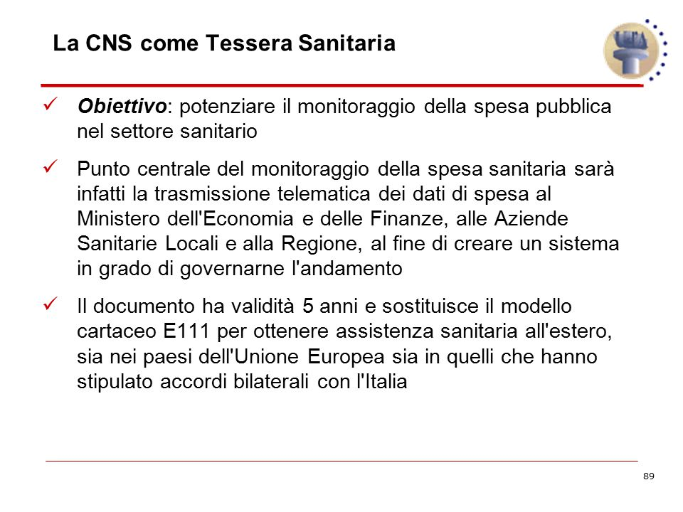 La CNS come Tessera Sanitaria