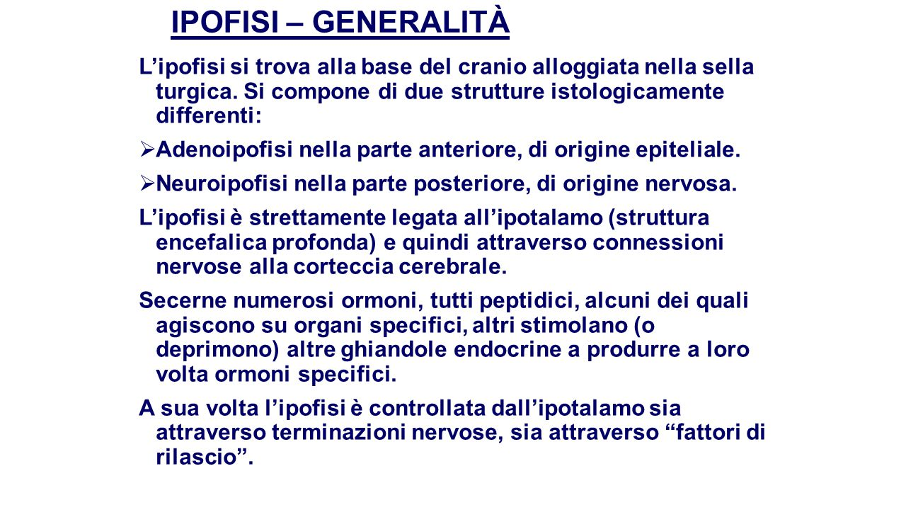 IPOFISI – GENERALITÀ
