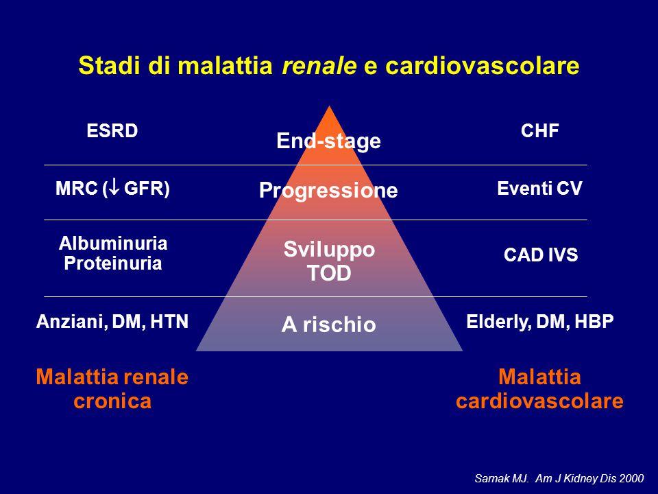 Stadi di malattia renale e cardiovascolare