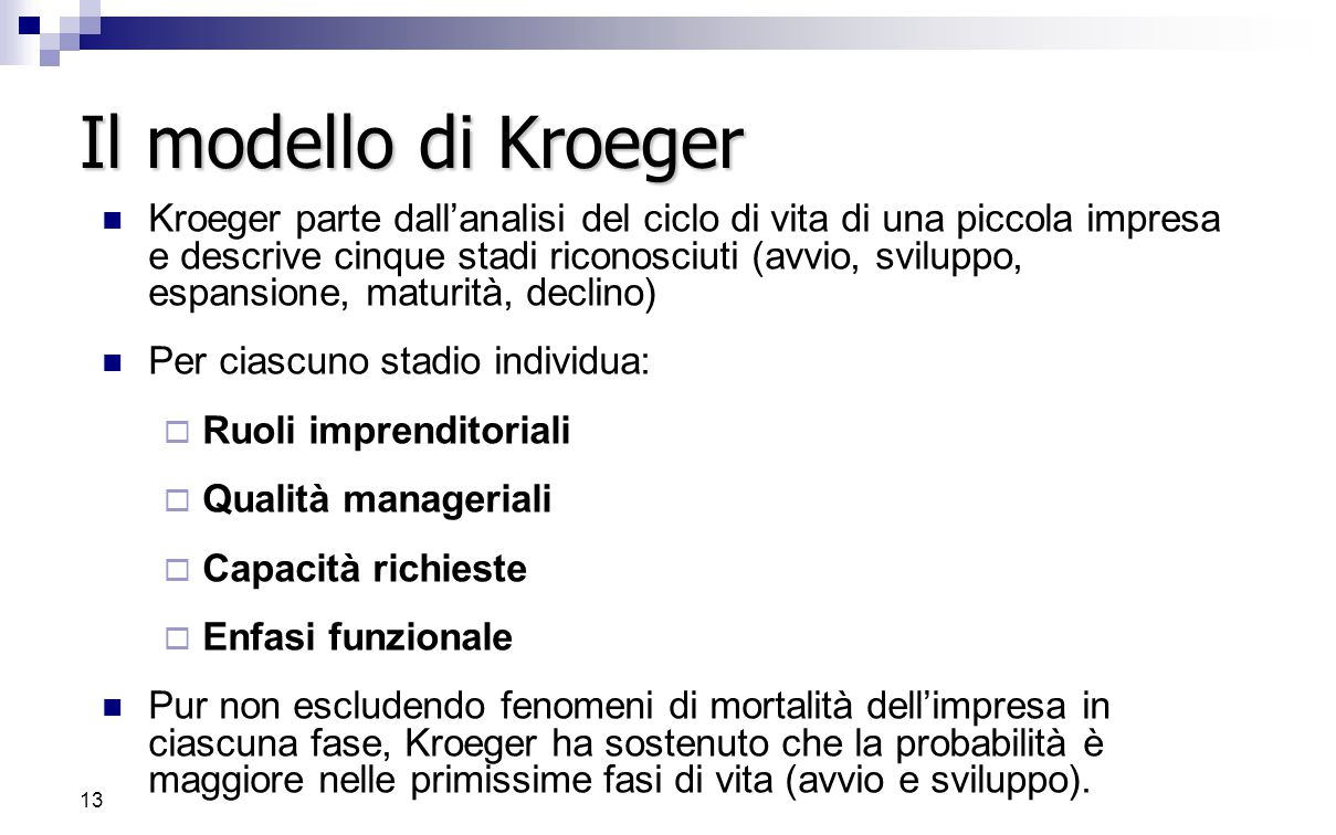 Il modello di Kroeger