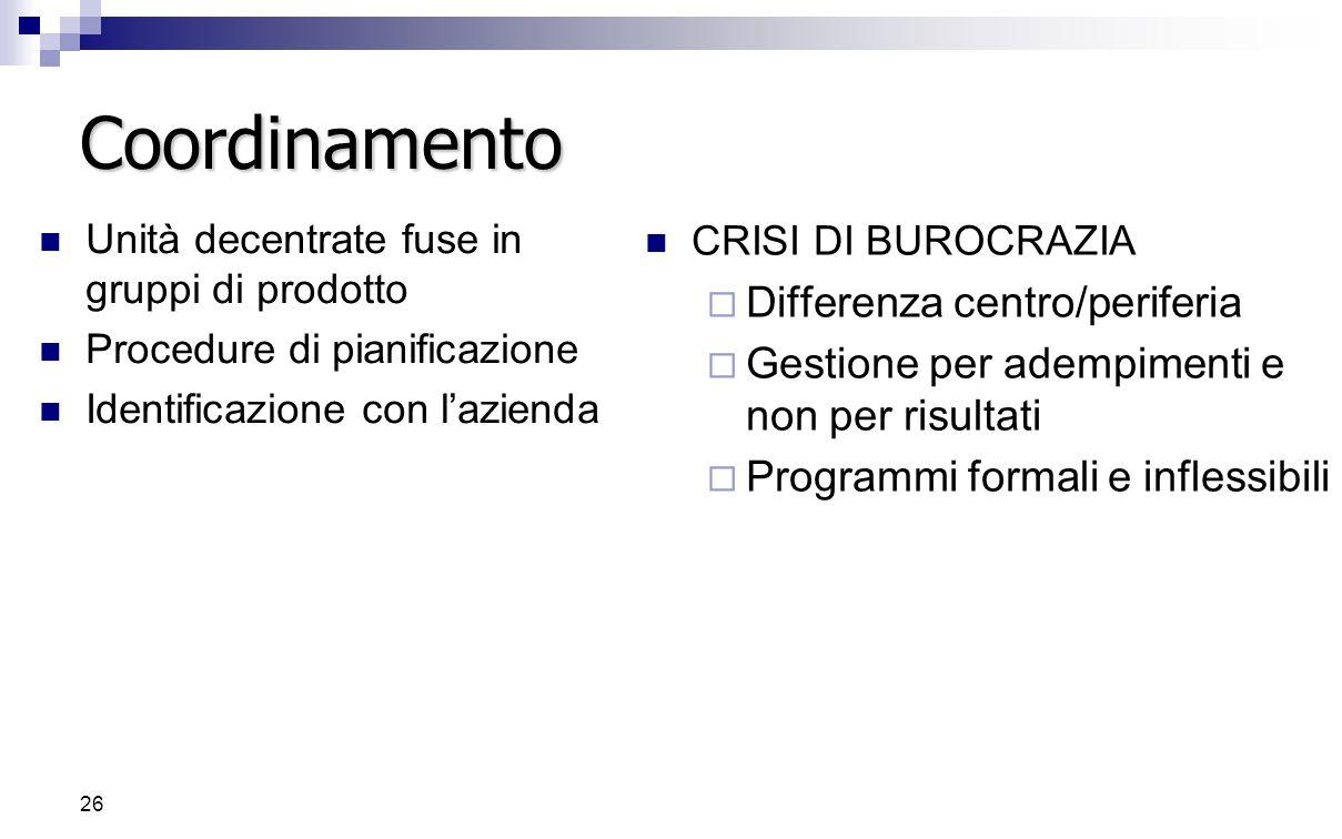 Coordinamento Differenza centro/periferia
