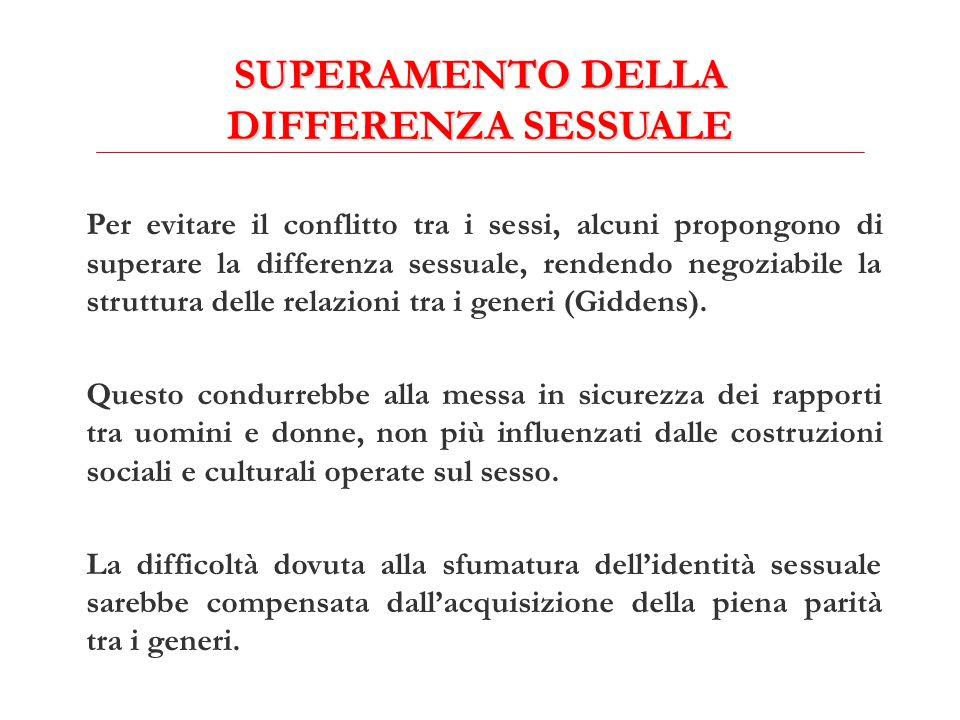 SUPERAMENTO DELLA DIFFERENZA SESSUALE