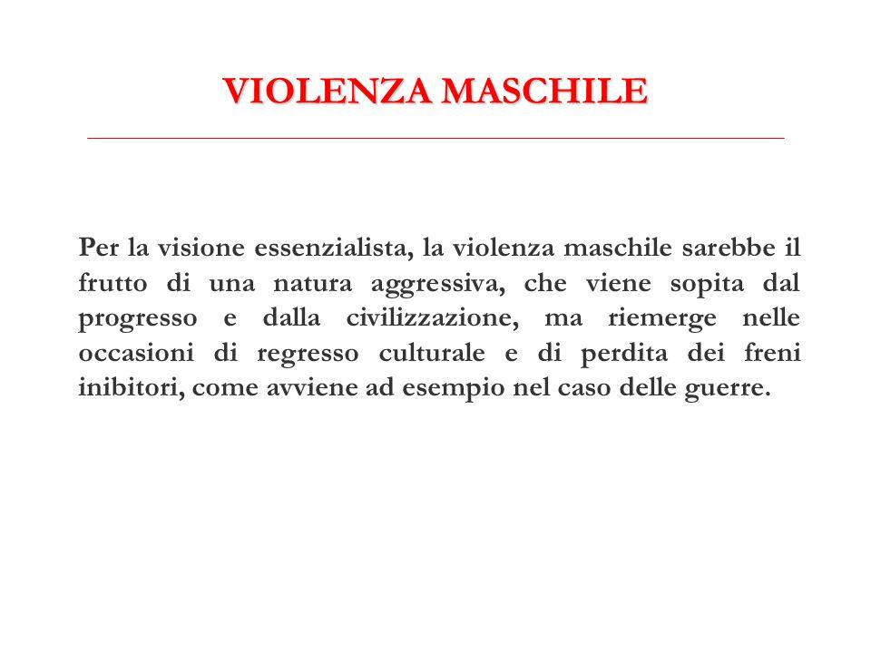 VIOLENZA MASCHILE