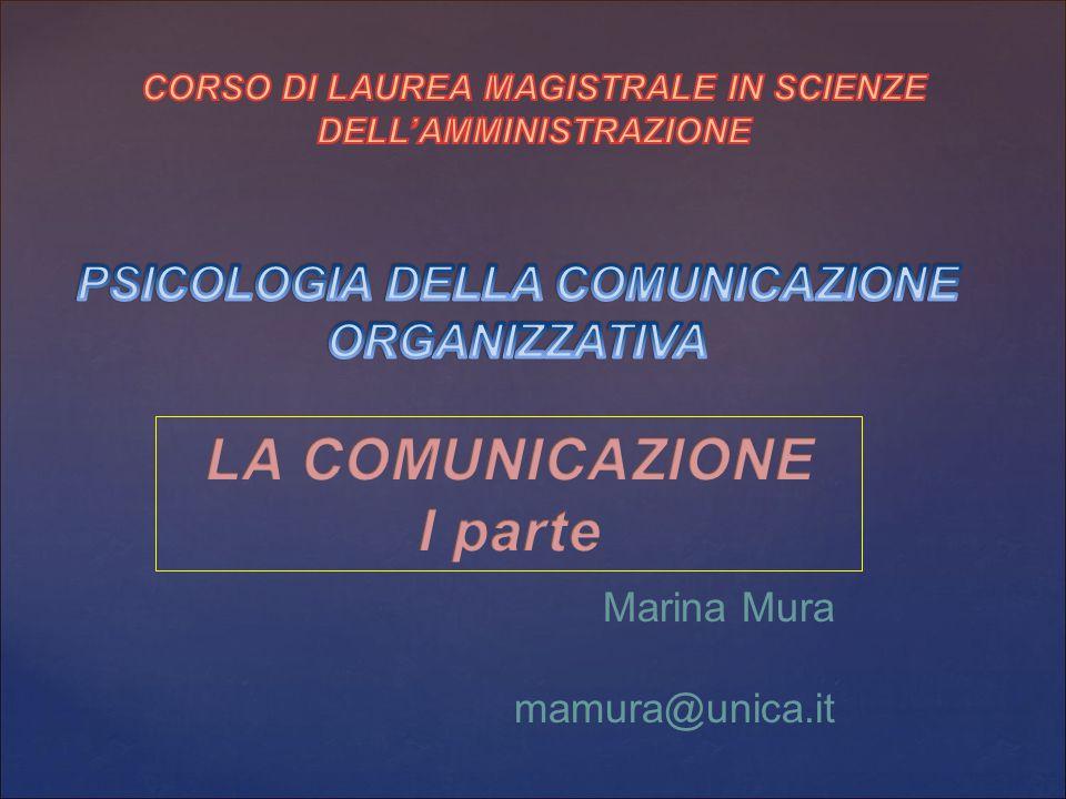 LA COMUNICAZIONE I parte