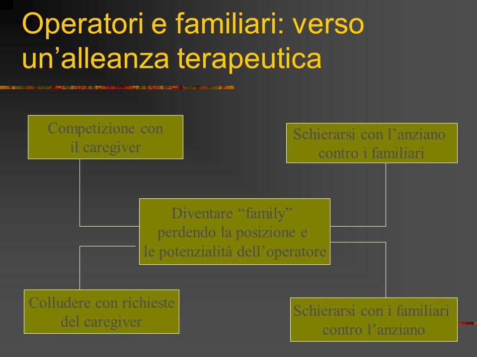 Operatori e familiari: verso un'alleanza terapeutica