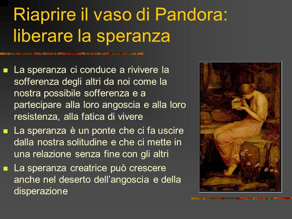 Riaprire il vaso di Pandora: liberare la speranza