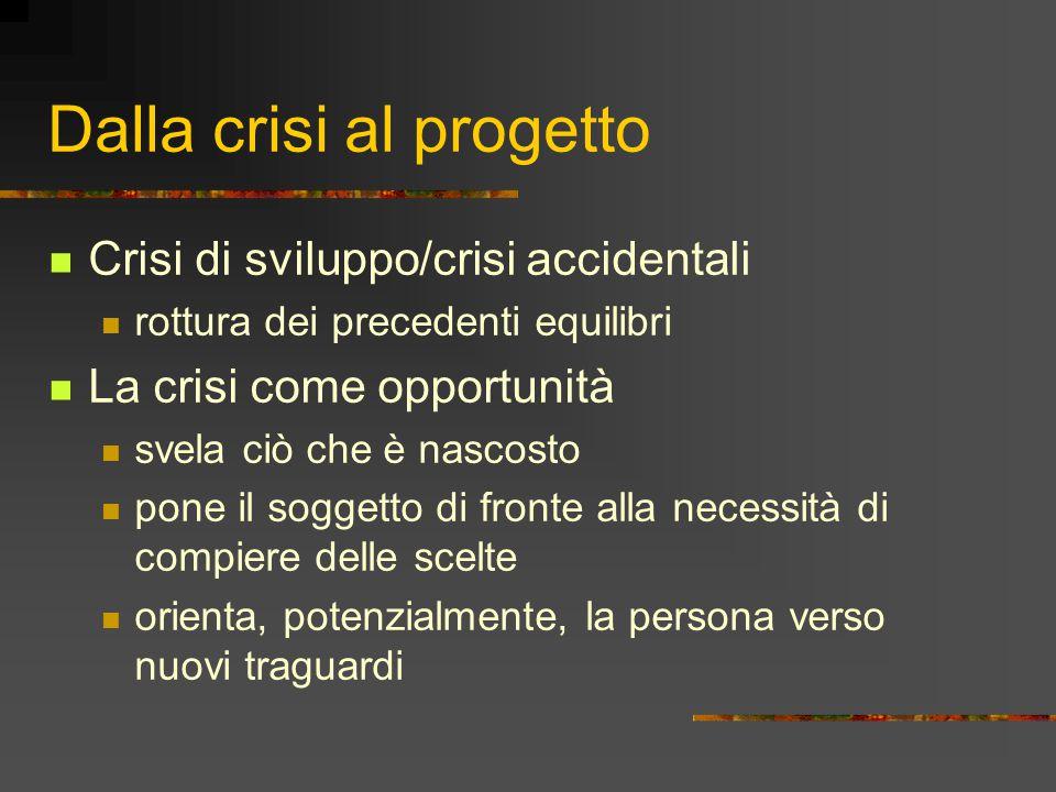 Dalla crisi al progetto