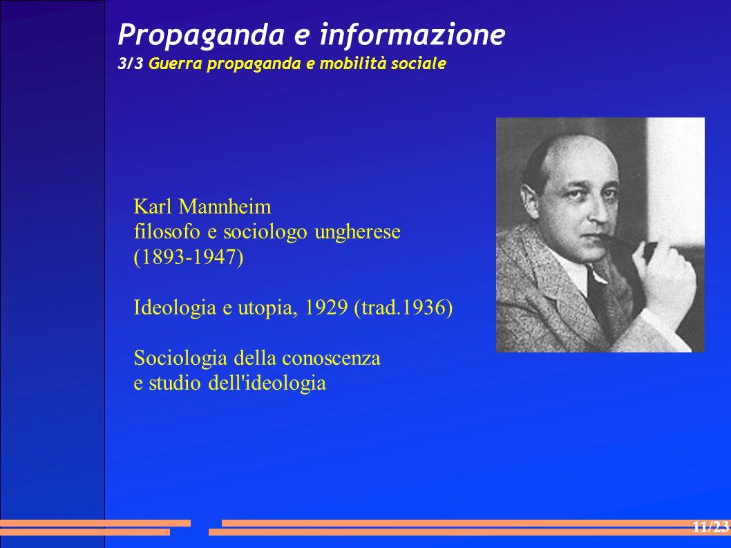 Propaganda e informazione 3/3 Guerra propaganda e mobilità sociale