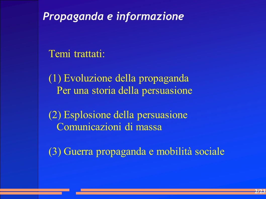 Propaganda e informazione