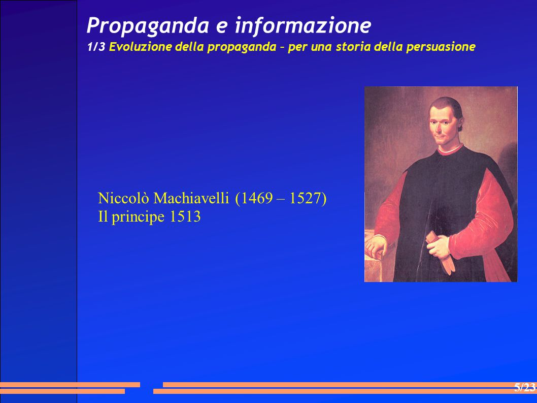Niccolò Machiavelli (1469 – 1527) Il principe 1513