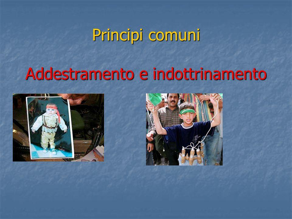 Principi comuni Addestramento e indottrinamento