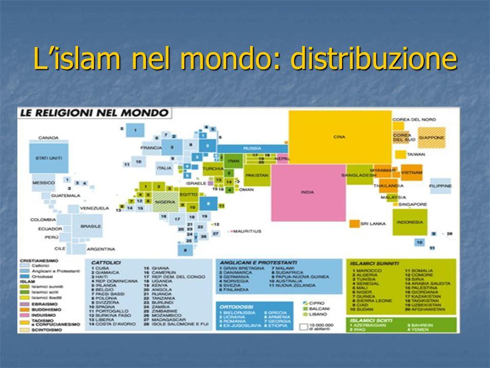 L'islam nel mondo: distribuzione