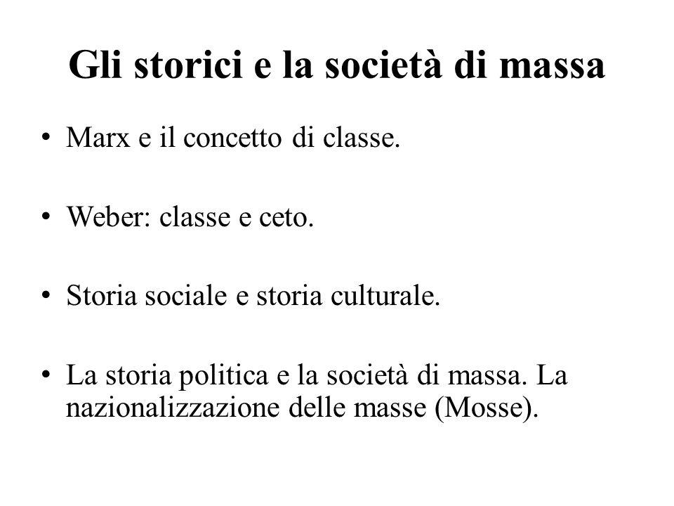 Gli storici e la società di massa