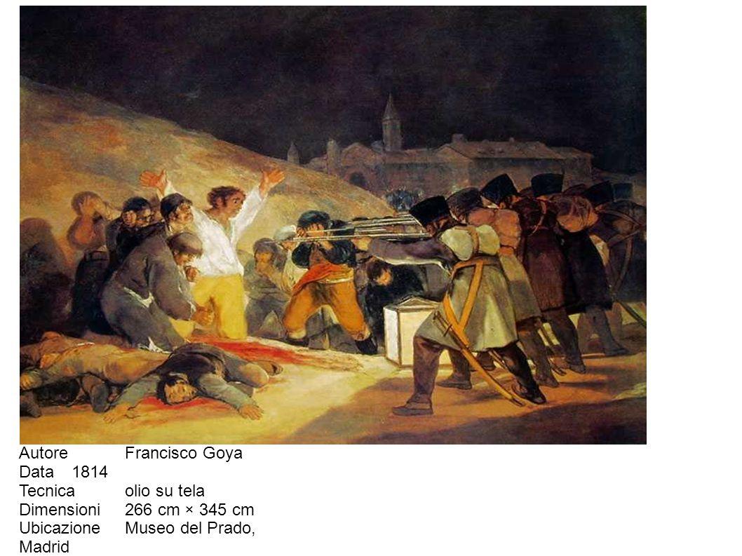 Autore Francisco Goya Data 1814. Tecnica olio su tela.