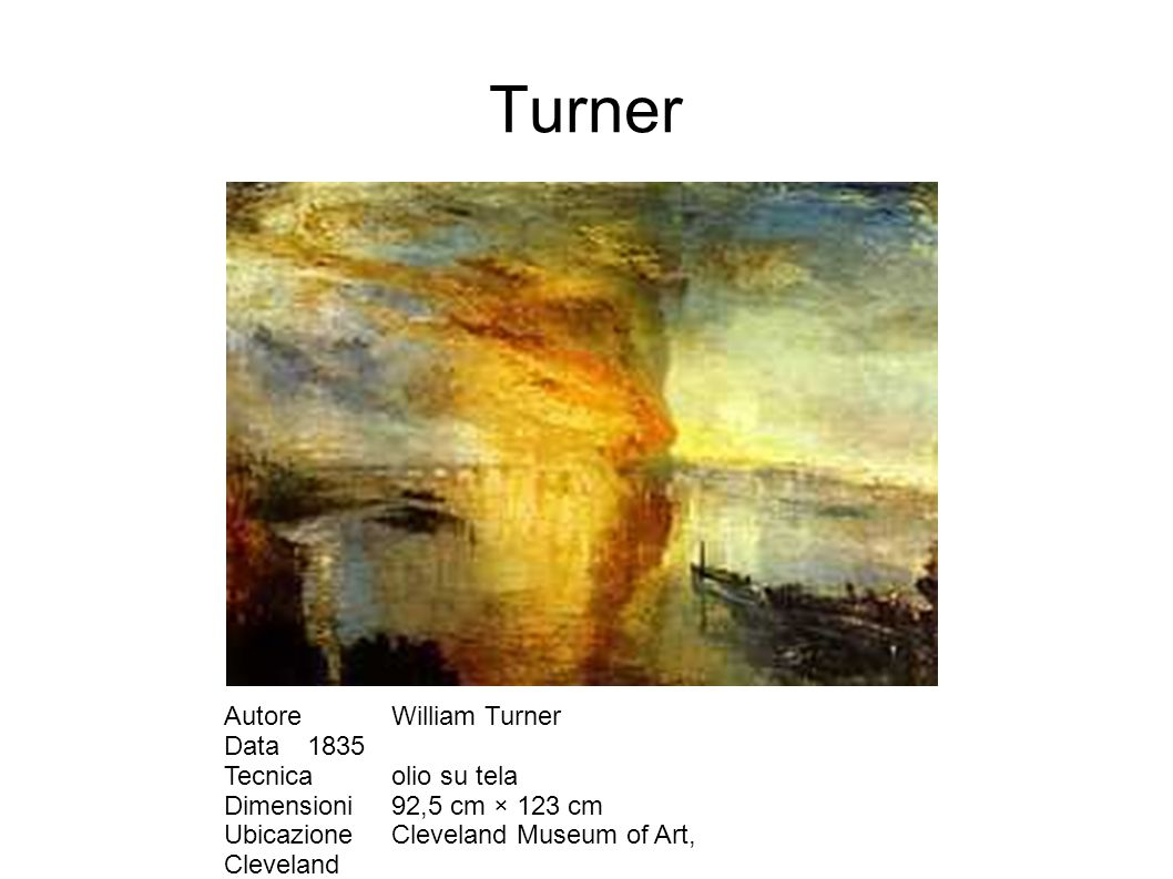 Turner Autore William Turner Data 1835 Tecnica olio su tela