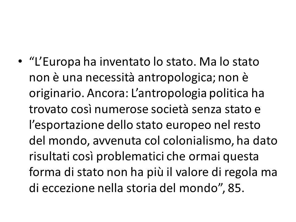 L'Europa ha inventato lo stato