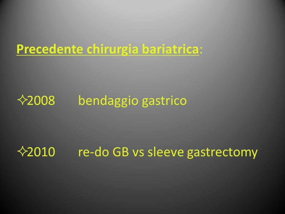 Precedente chirurgia bariatrica: