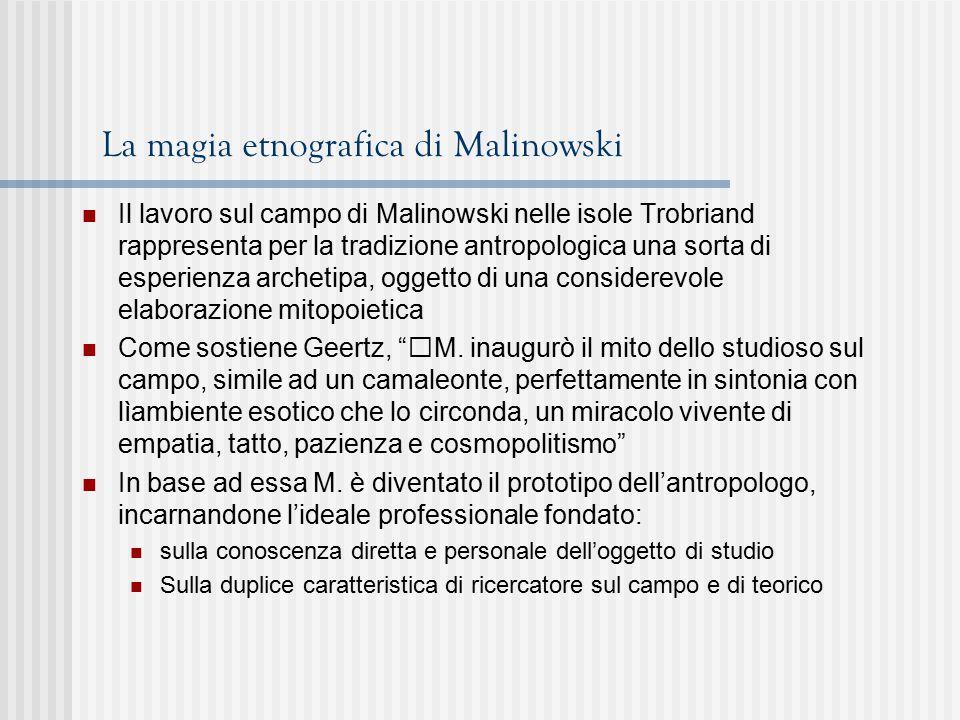 La magia etnografica di Malinowski
