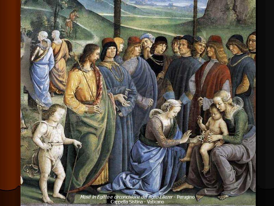 Mosè in Egitto e circoncisione del figlio Eliezer - Perugino