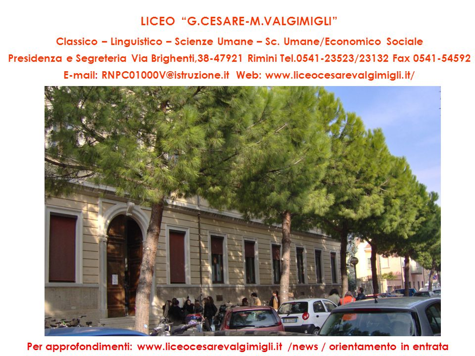 LICEO G.CESARE-M.VALGIMIGLI