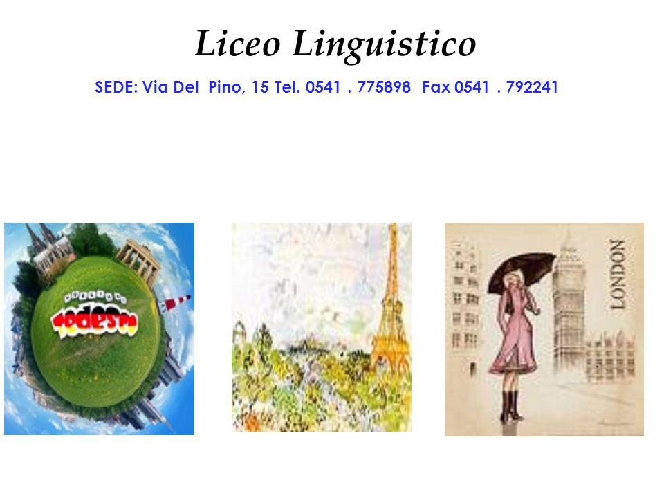 SEDE: Via Del Pino, 15 Tel. 0541 . 775898 Fax 0541 . 792241