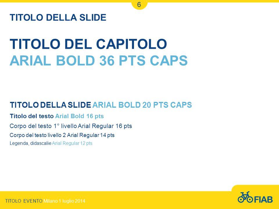 TITOLO DEL CAPITOLO ARIAL BOLD 36 PTS CAPS