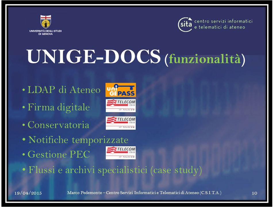 UNIGE-DOCS (funzionalità)