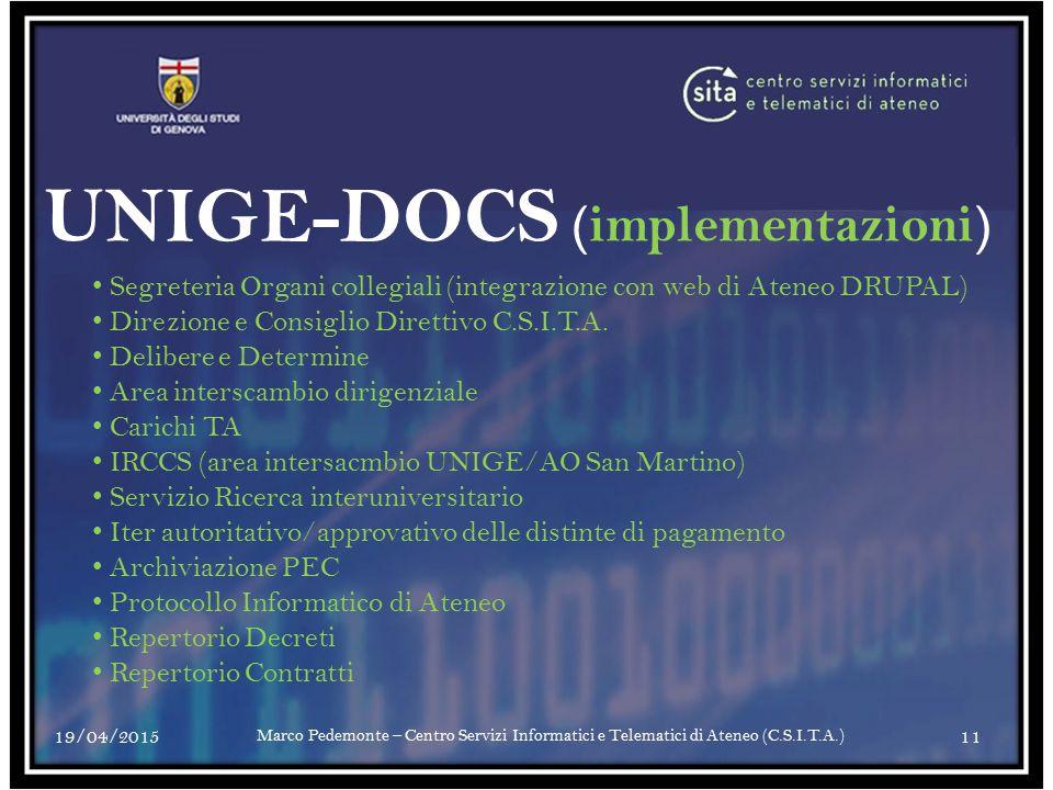 UNIGE-DOCS (implementazioni)