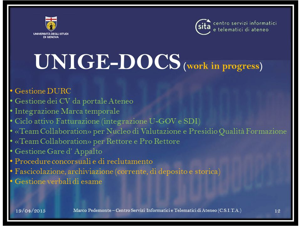UNIGE-DOCS (work in progress)