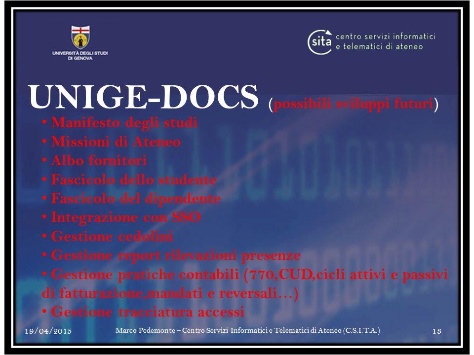 UNIGE-DOCS (possibili sviluppi futuri)