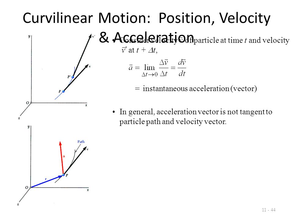 Curvilinear Motion: Position, Velocity & Acceleration