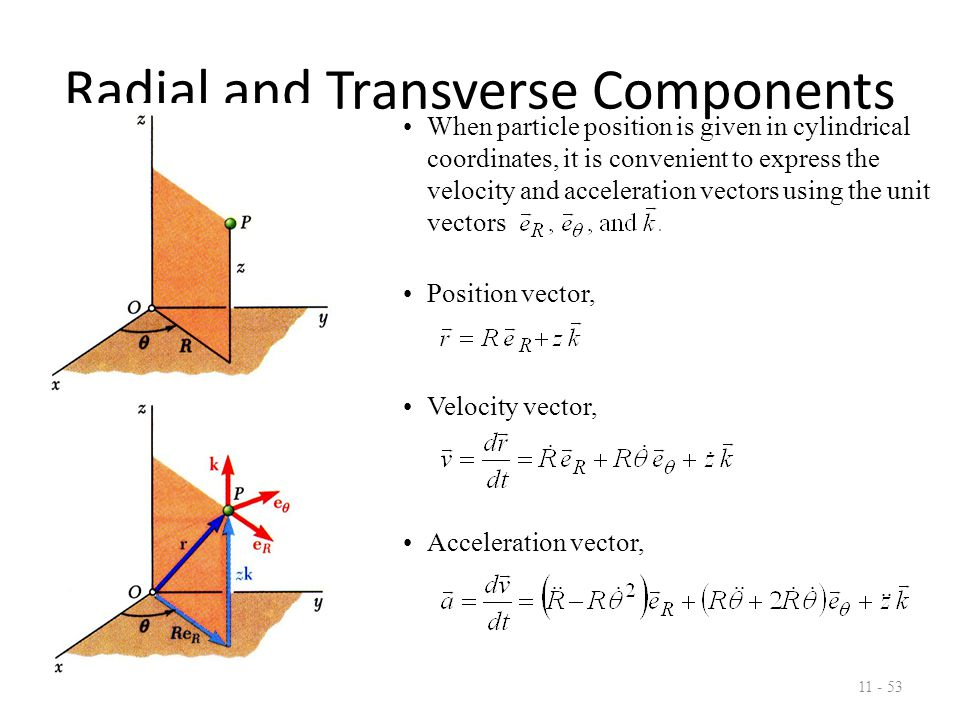 Radial and Transverse Components