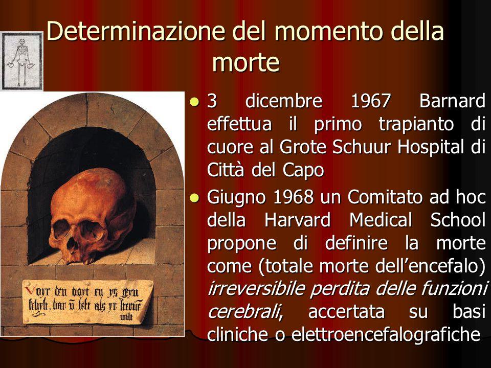 Determinazione del momento della morte