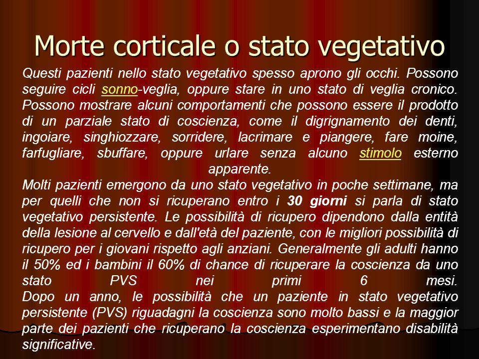 Morte corticale o stato vegetativo