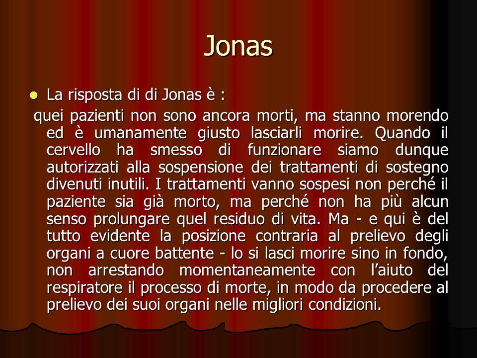 Jonas La risposta di di Jonas è :