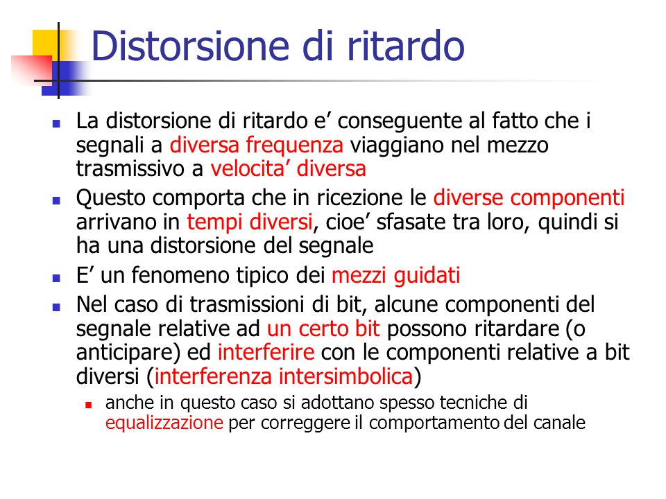 Distorsione di ritardo