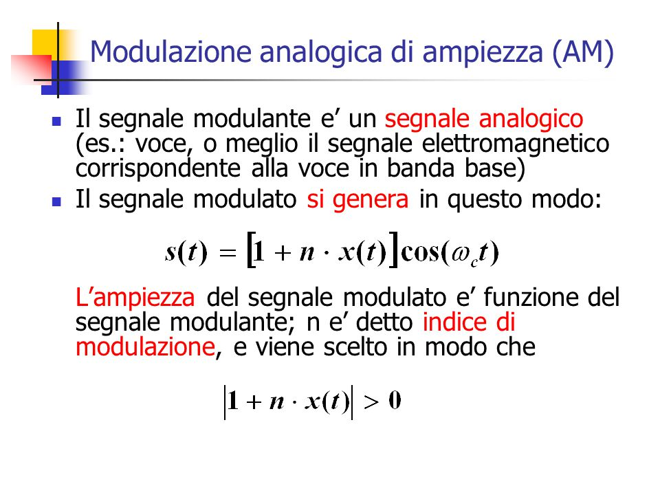 Modulazione analogica di ampiezza (AM)