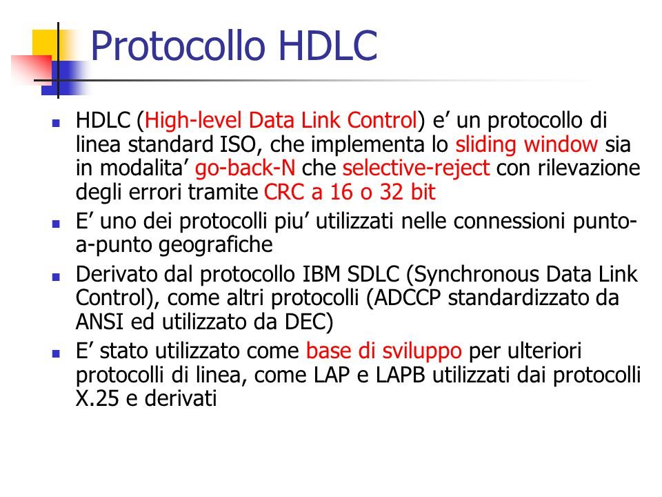 Protocollo HDLC
