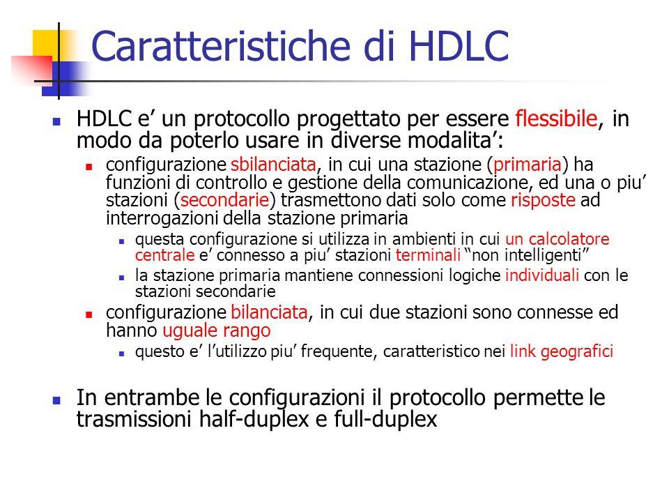 Caratteristiche di HDLC