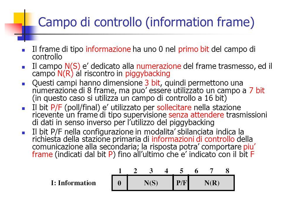 Campo di controllo (information frame)