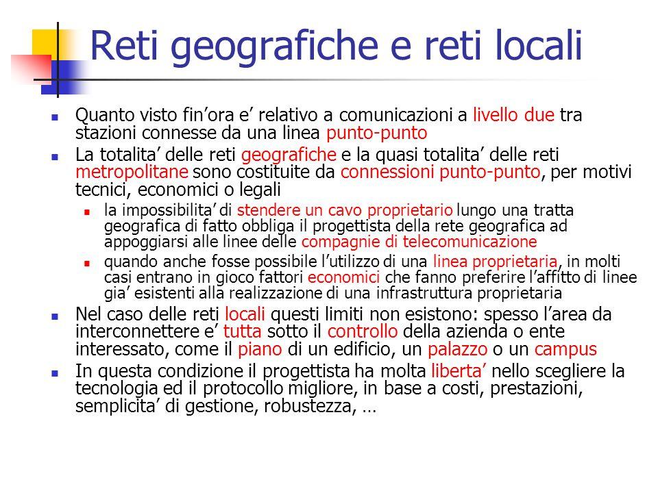 Reti geografiche e reti locali