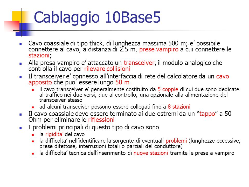Cablaggio 10Base5