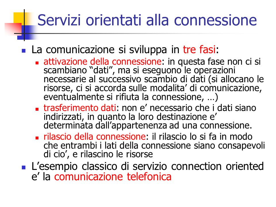 Servizi orientati alla connessione