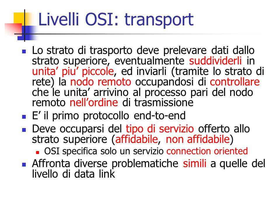 Livelli OSI: transport