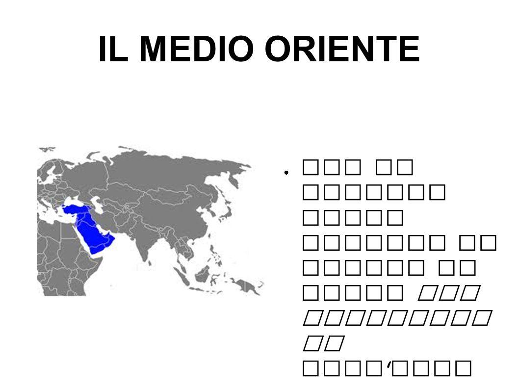 IL MEDIO ORIENTE Con il termine medio oriente si indica la parte sud occidentale dell Asia