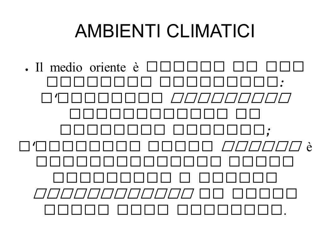 AMBIENTI CLIMATICI