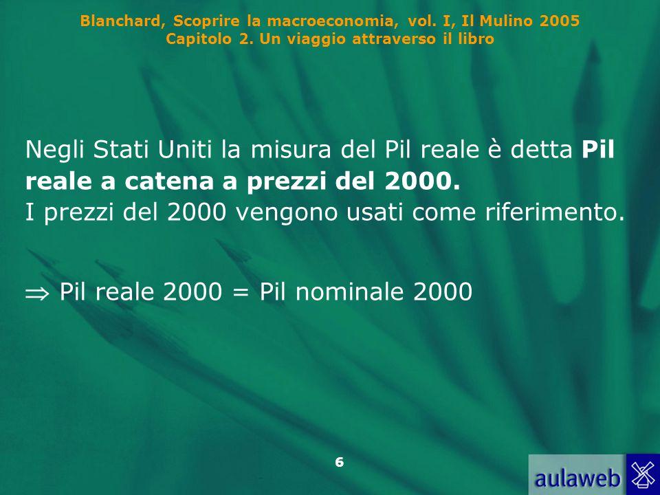  Pil reale 2000 = Pil nominale 2000