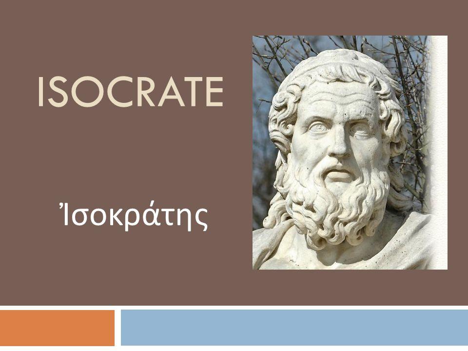 isocrate Ἰσοκράτης